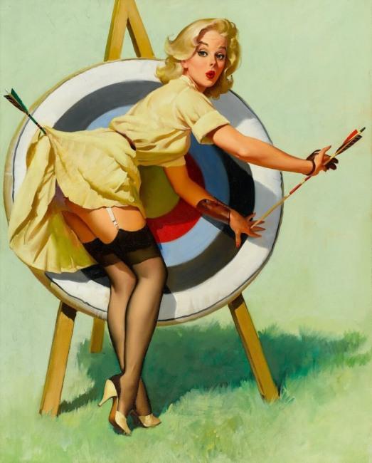 Малюнок  про стріли, сідниці вульгарний