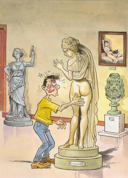 Малюнок  про статую, сідниці вульгарний