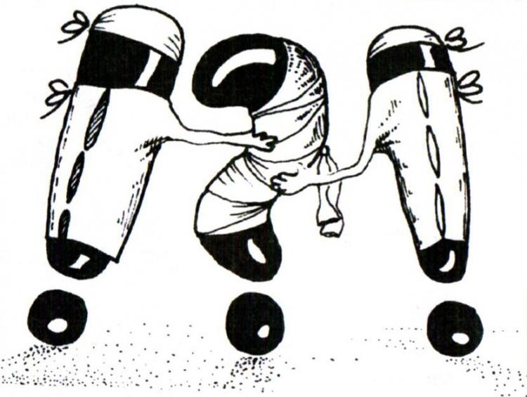 Малюнок  про знак оклику, знак питання журнал перець