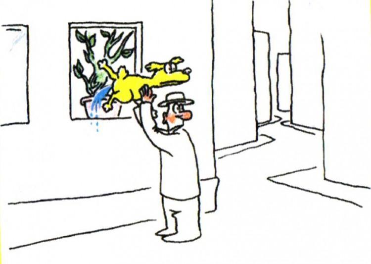 Малюнок  про картини, собак, сечовипускання журнал перець