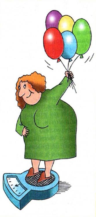 Малюнок  про ваги, товстих людей, кульки журнал перець