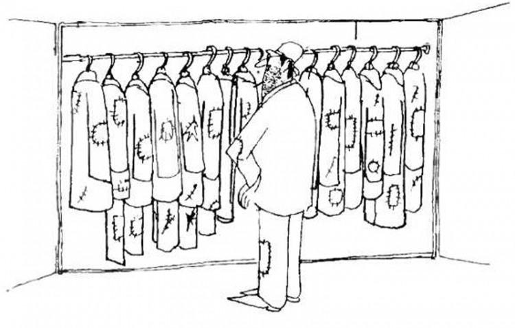 Малюнок  про жебраків, одяг журнал перець