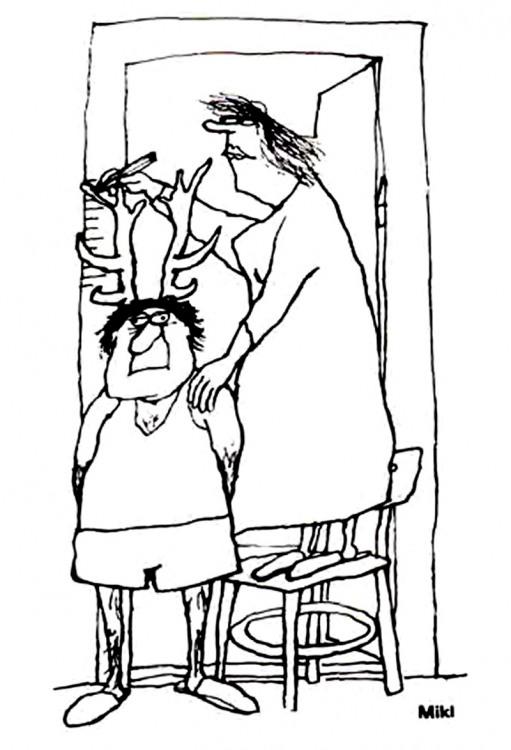 Малюнок  про чоловіка, дружину, роги журнал перець