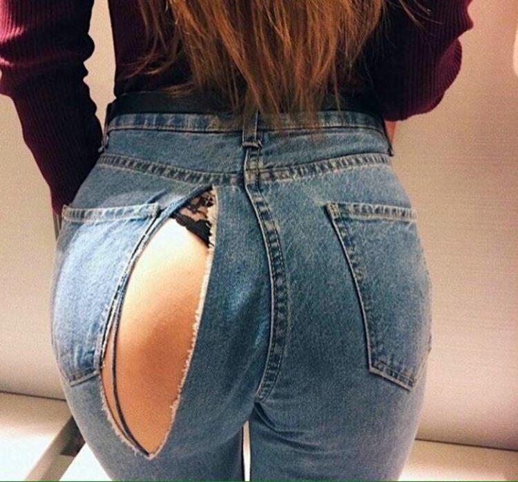 Фото прикол  про сідниці, дірку, джинси вульгарний