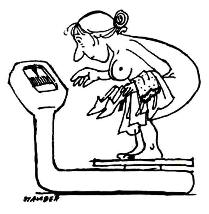 Малюнок  про ваги, вульгарний журнал перець