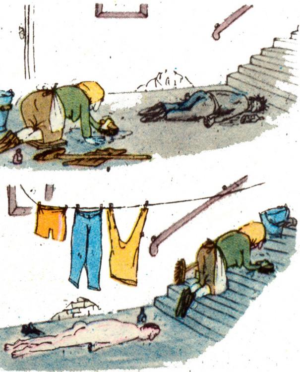 Малюнок  про прибирання, прибиральниць журнал перець