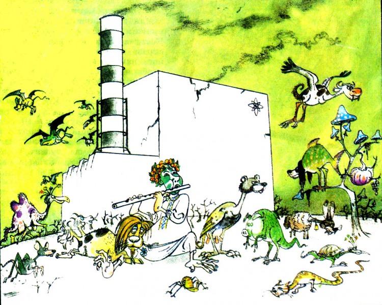 Малюнок  про чорнобиль, радіацію, чорний журнал перець