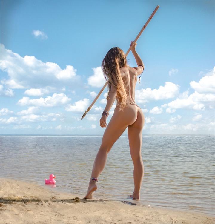Фото прикол  про білявок, полювання вульгарний