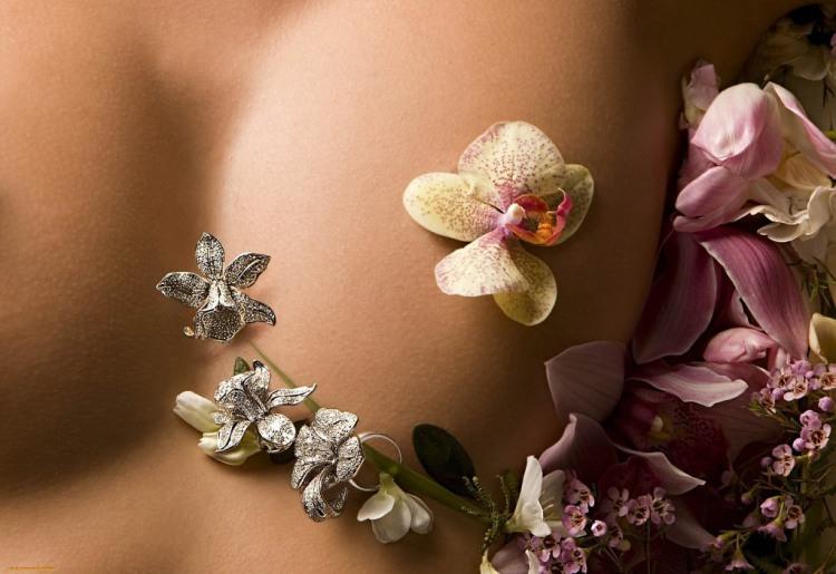 Фото прикол  про жіночі груди, квіти та еротику