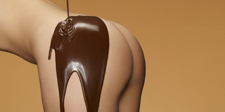 Фото прикол  про сідниці, шоколад вульгарний
