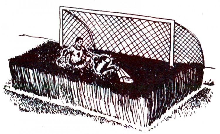 Малюнок  про футбол, ворота журнал перець