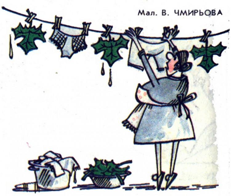 Малюнок  про білизну, листя журнал перець