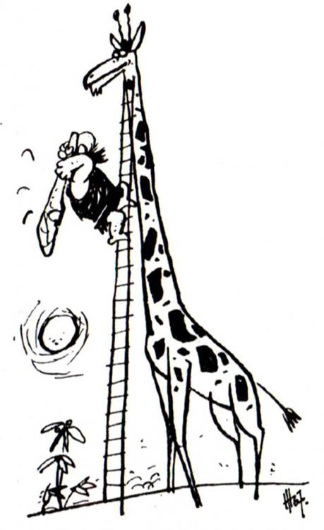 Малюнок  про первісних людей, жирафа журнал перець
