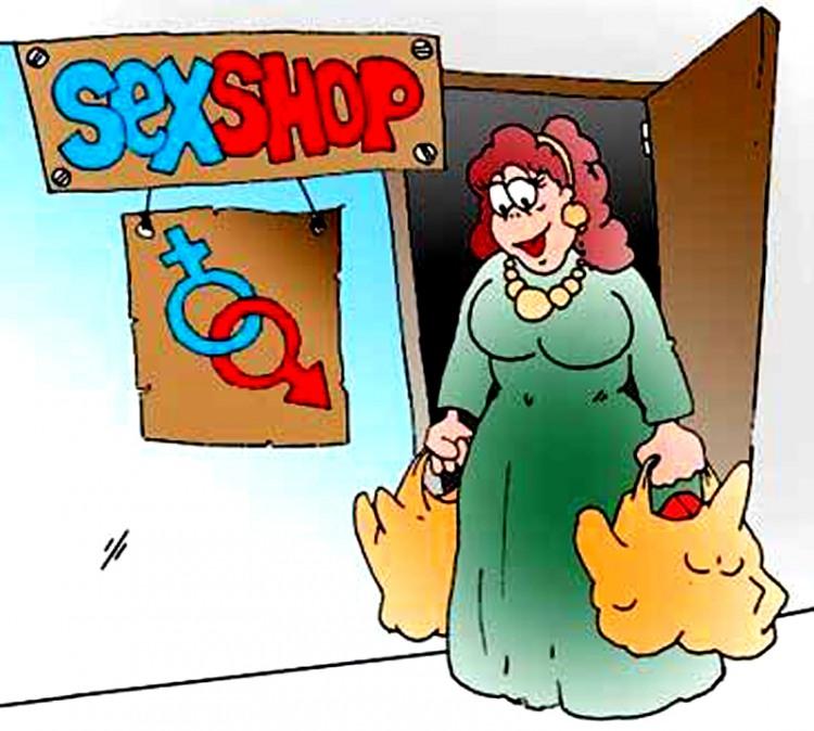Малюнок  про секс шоп
