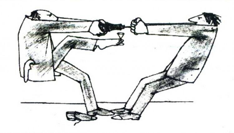 Малюнок  про пляшку, штопор, корок журнал перець