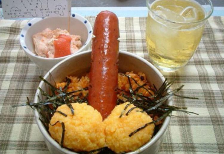 Фото прикол  про сосиски, їжу гра уяви