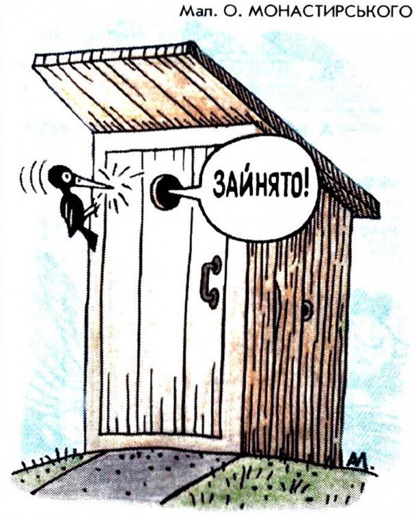 Малюнок  про туалет, дятла журнал перець