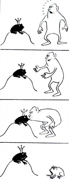 Малюнок  про царівну-жабу, поцілунки журнал перець
