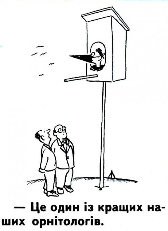 Малюнок  про орнітологів журнал перець