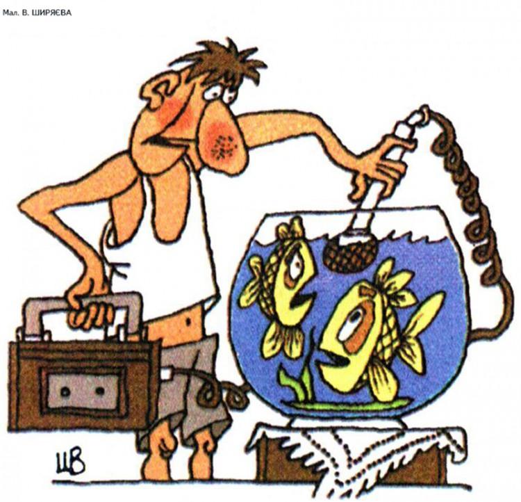 Малюнок  про рибу, мікрофон журнал перець