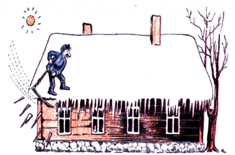 Малюнок  про бурульки журнал перець