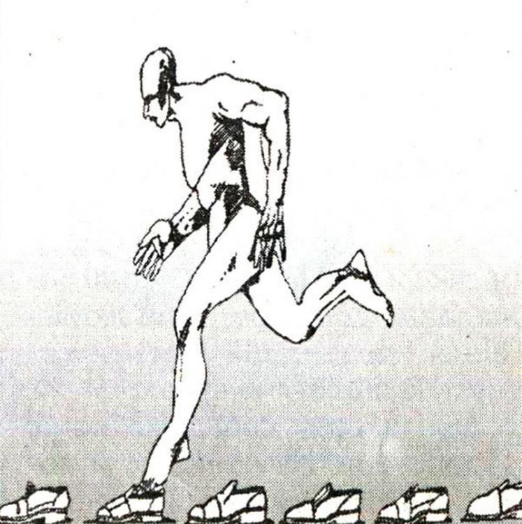 Малюнок  про взуття, біг журнал перець