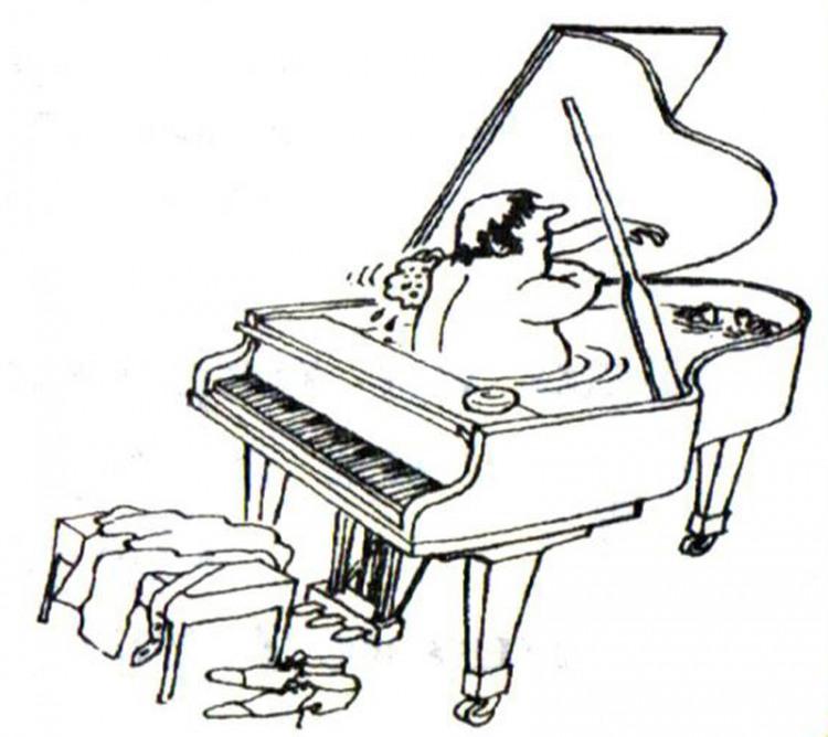 Малюнок  про рояль, купання журнал перець