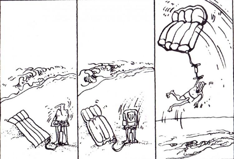 Малюнок  про матрац, комікс, чорний журнал перець