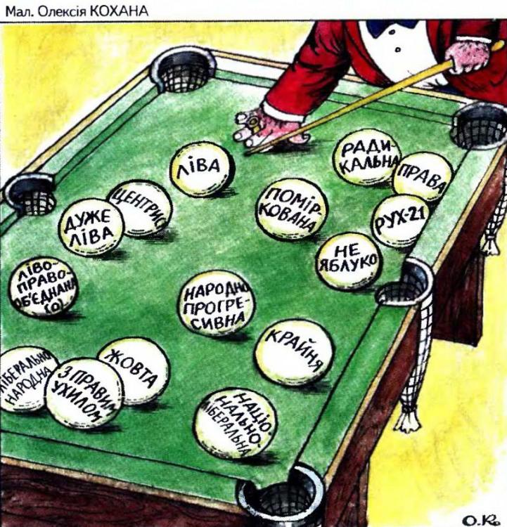 Малюнок  про більярд, політику журнал перець