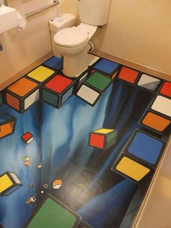 Фото прикол  про туалет та підлогу