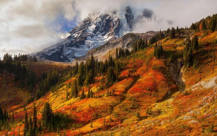 Фото прикол  про осінь та гори