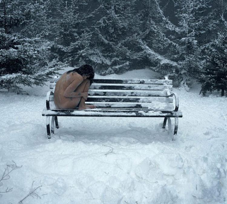 Фото прикол  про дівчат, роздягнених людей, холод вульгарний