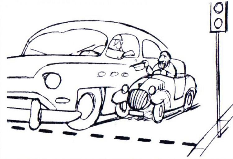 Малюнок  про водіїв, жебраків журнал перець