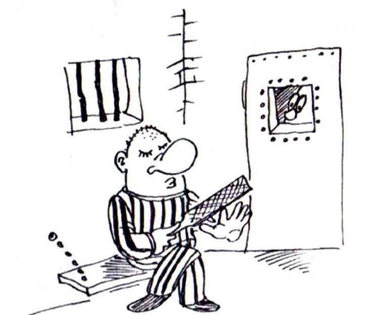 Малюнок  про в'язницю, манікюр журнал перець