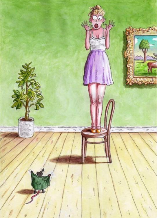 Малюнок  про мишей, ексгібіціонізм, жінок та страх