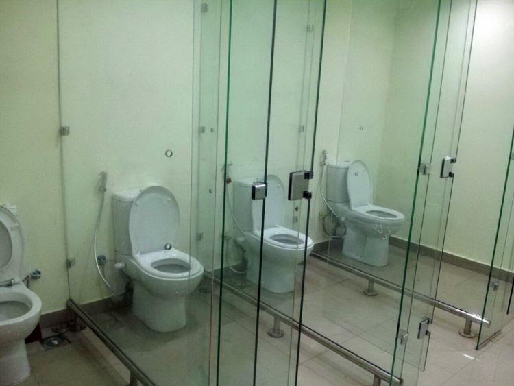 Фото прикол  про туалет та скло