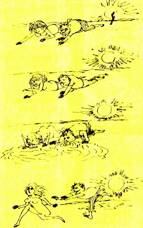 Малюнок  про чоловіків, жінок, спрагу, пустелю журнал перець