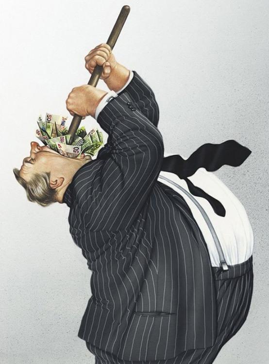Малюнок  про гроші та жадібність