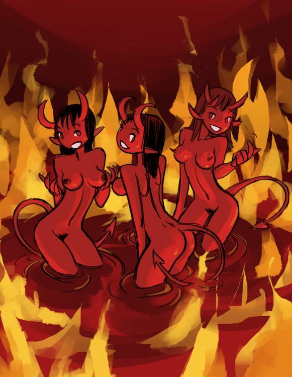 Малюнок  про чорта, пекло, інтимний вульгарний