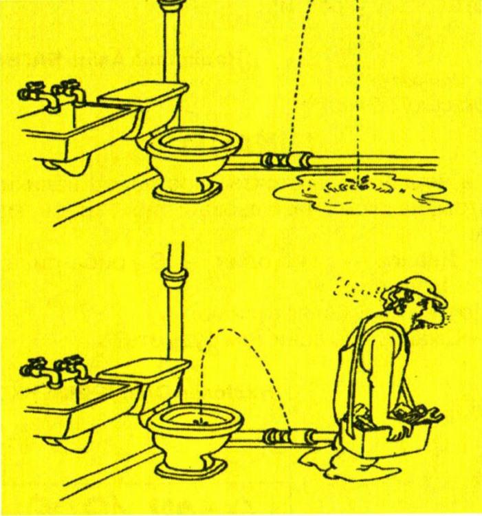 Малюнок  про сантехніків, унітаз журнал перець