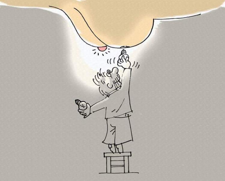 Малюнок  про лампочку гра уяви
