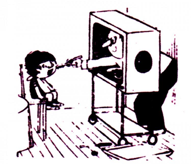 Малюнок  про дітей, телевізор журнал перець