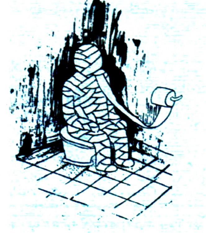 Малюнок  про туалетний папір, мумію журнал перець