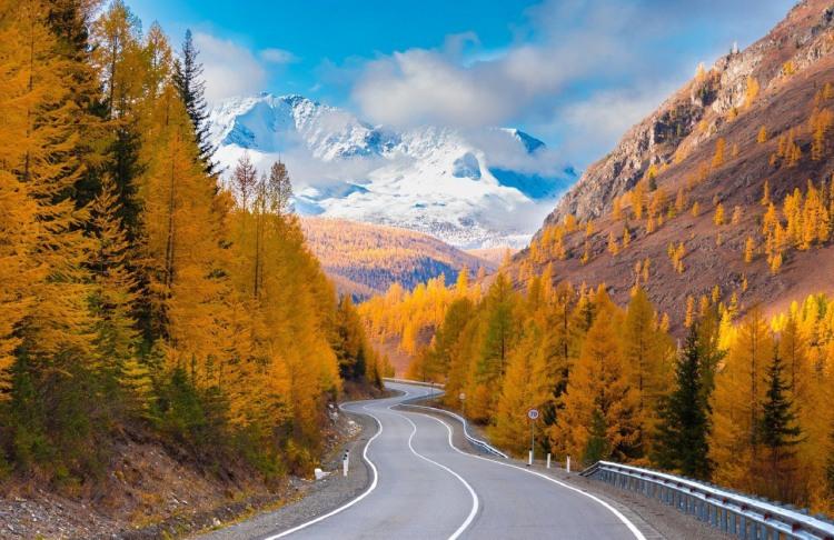 Фото прикол  про осінь, гори та природу