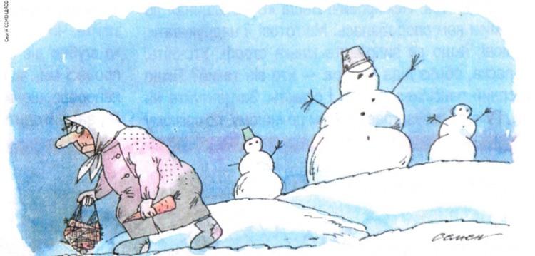 Малюнок  про сніговика, моркву, бабусь журнал перець