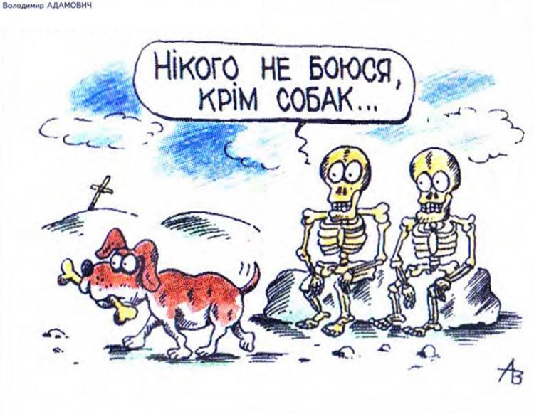 Малюнок  про собак, скелет, кістки журнал перець