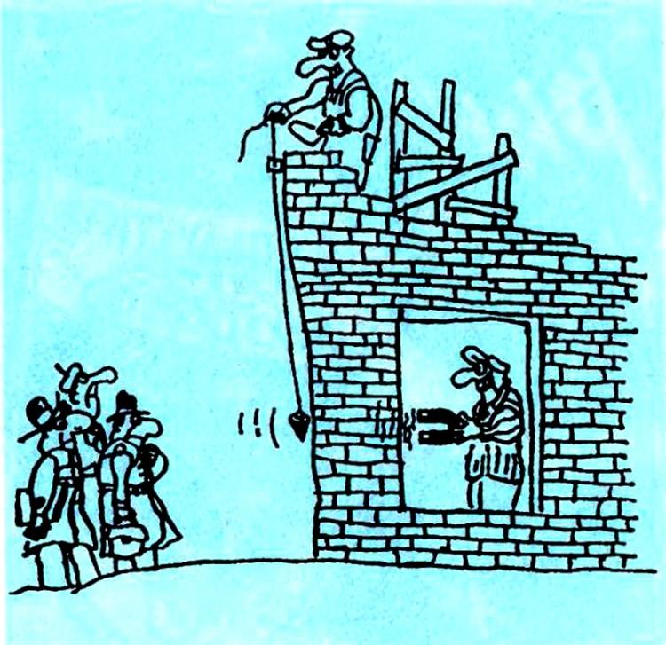Малюнок  про будівельників, шахраїв журнал перець