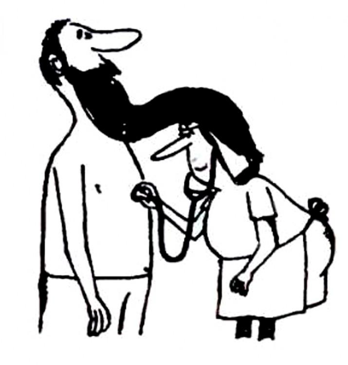 Малюнок  про лікарів, бороду журнал перець