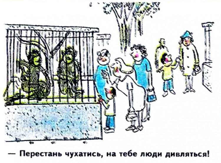 Малюнок  про мавп, зоопарк журнал перець