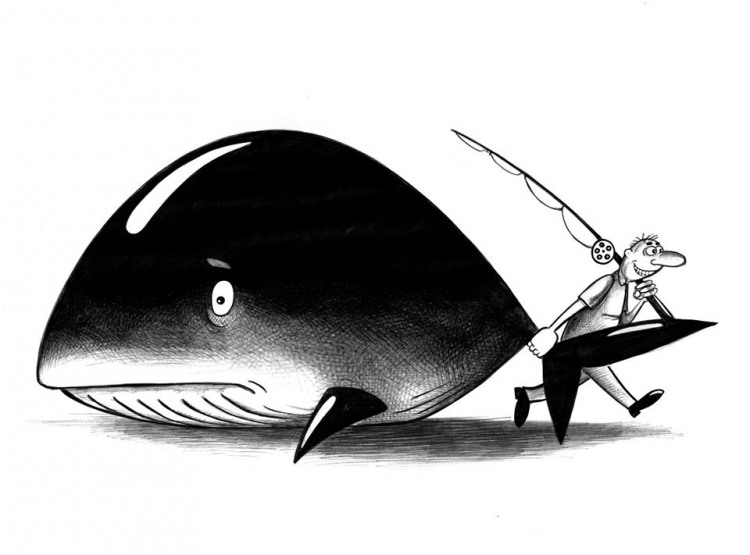 Малюнок  про рибу та рибалок